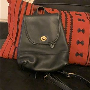 Vintage Coach Backpack in Black